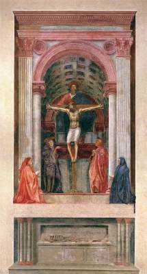Holy trinity with virgin masaccio