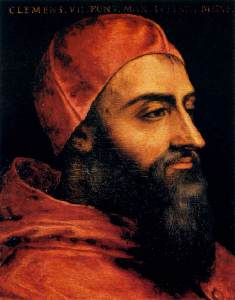 Portrait of Pope Clement VII by Agnolo Bronzino