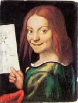 Read-headed Youth Holding a Drawing by Giovanni Francesco CAROTO (1488-1562)